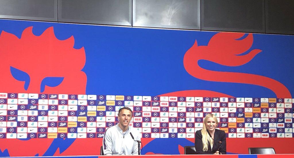 Phil Neville pre-Brazil press conference